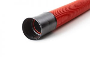 Composite Cable Conduit made of PE-HD with outer corrugation in coils
